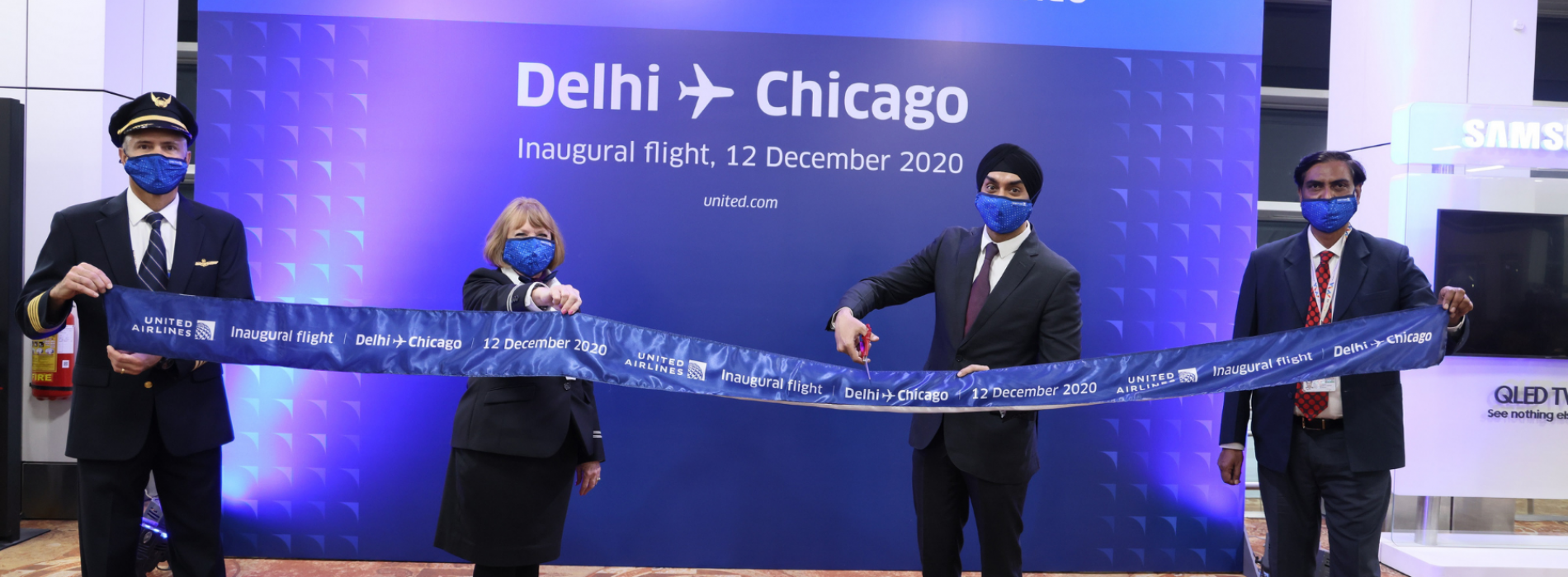 United Airlines Inaugurates Nonstop Service BetweenNew Delhi and Chicago
